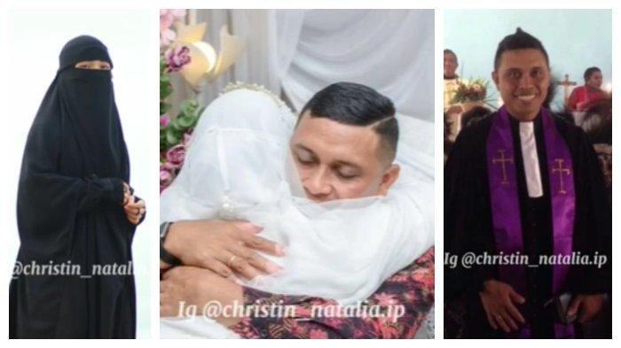 Pak Pendeta Peluk Putrinya yang Bercadar Saat Akad Nikah, Banjir Air Mata Ketika Sungkem