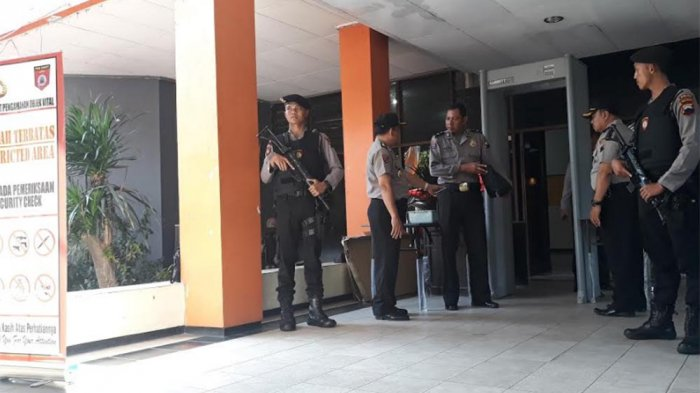 Begini Suasana Pengamanan Gedung KPU Jateng Jelang Pendaftaran Balon Gubernur