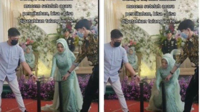 Viral Pengantin Perempuan Aksi Debus Patahkan Besi Pakai Tangan di Hari Pernikahan