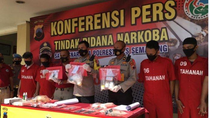 Polrestabes Semarang Tangkap Empat Pengedar Sabu-sabu, Nilainya Lebih dari Rp 500 Juta
