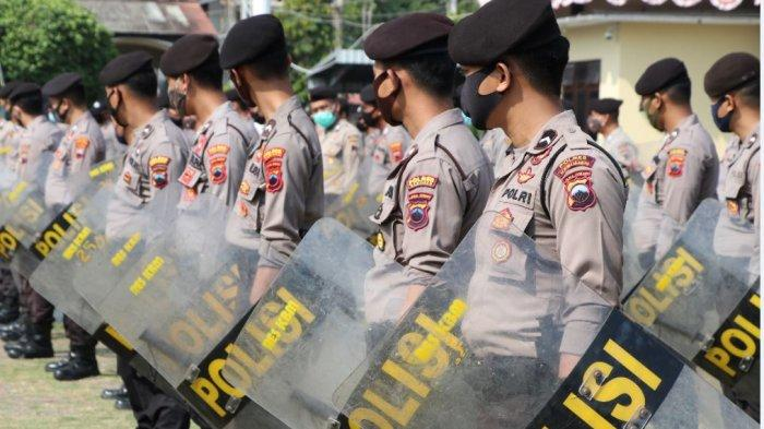.Polres Kebumen Selenggarakan Latihan Dalmas Mengantisipasi Kerawanan Pemilu