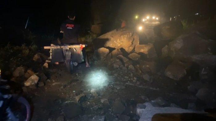 Tebing Batu Selaranda Karangsambung Kebumen Sering Longsor, Materialnya Batu Besar