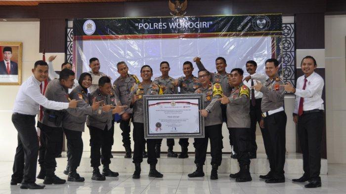 Bangganya Polres Wonogiri Dapat Penghargaan Zona Integritas Menuju WBK WBBM 2020