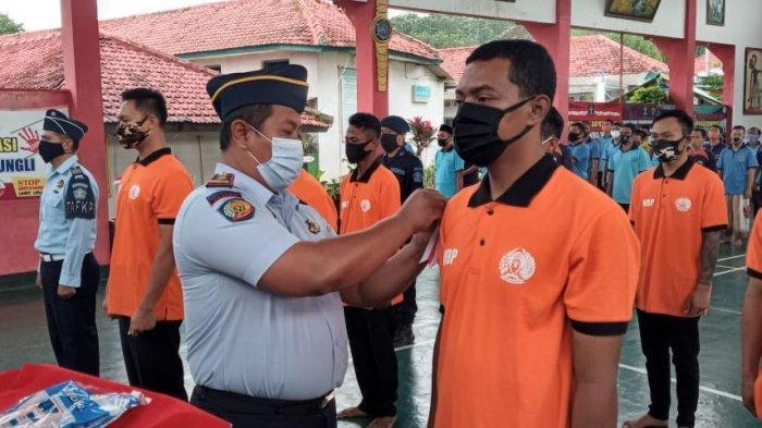 Pengukuhan Satgas Germas K2 di Aula Kantor Rutan Kabupaten Batang, Selasa (9/2/2021).