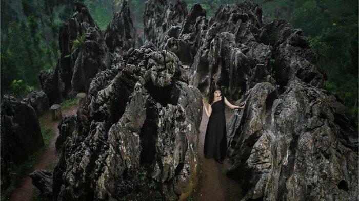 Warga Pesangkalan Banjarnegara Sulap Batu Jadi Objek Wisata