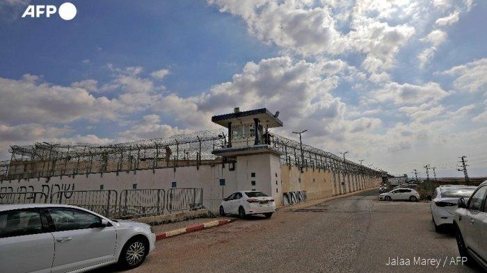 Penjara Penjara Gilboa di Israel. 6 milisi Palestina kabur melalui terowongan yang digali.