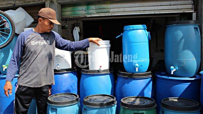 Kahar Modifikasi Ember Jadi Tempat Cuci Tangan, Banjir Orderan Tiap Hari Jual 50 Buah