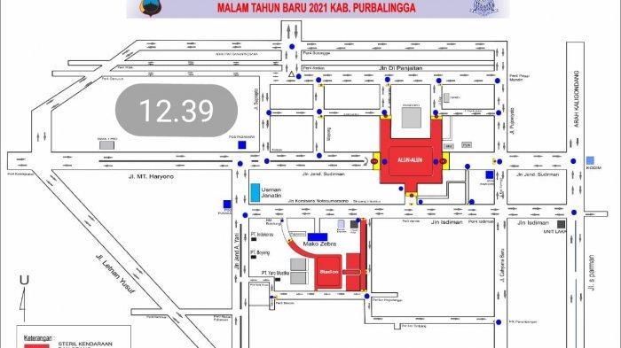 Jalan Menuju Alun-alun dan GOR Goentoer Purbalingga akan Ditutup di Malam Pergantian Tahun