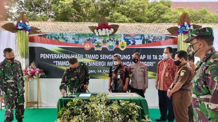 TMMD Sengkuyung Tahap III di Desa Banyurip Sragen Rampung