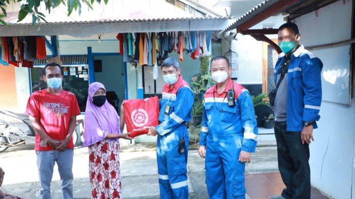 Peduli Covid-19, Serikat Pekerja Pertamina Cilacap Bagikan 300 Paket Sembako