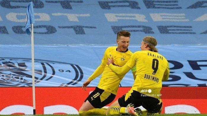 Hasil Liga Champions: Satu Gol Reus Buat Manchester City Belum Aman di Leg Kedua, Haaland Mengancam
