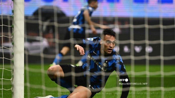 Cuplikan Gol Lautaro Martinez Saat Inter Milan Unggul 1-0 Atas AC Milan, Gol Cepat Menit ke-5
