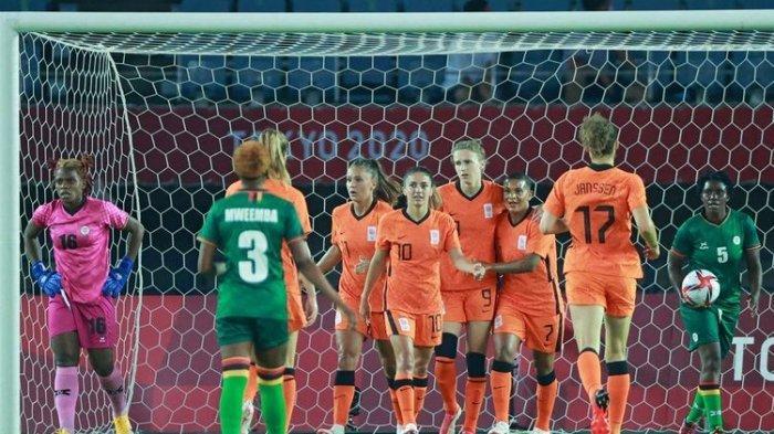 Hasil Cabor Sepak Bola Olimpiade Tokyo 2020, Brasil Cetak 5 Gol, Belanda 10 Gol