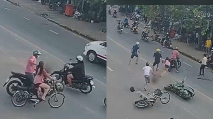 Viral Pria Bermotor Rampas Kalung Wanita Bersepeda Dikepung Warga Seperti Adegan Film