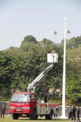 Upacara Tertunda di Mapolda Jateng karena Tali Bendera Putus