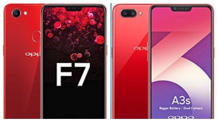 Harga Hp Rp 1 Jutaan Ini Perbandingan Oppo F7 Dengan Oppo A3s Tribun Jateng