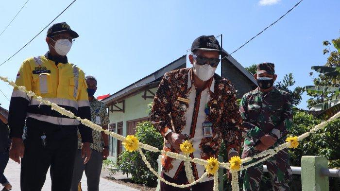 Peresmian Jalan Desa Tegaldowo oleh Camat Gunem Ahmad Solchan (5/8/2021).