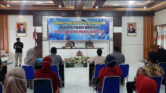 Bag Sumda Polres Wonogiri melaksanakan kegiatan Sidang BP4R Anggota Polres Wonogiri di Aula Polres Wonogiri, di mulai pukul 09.00 WIB, Jumat (5/2/2021).