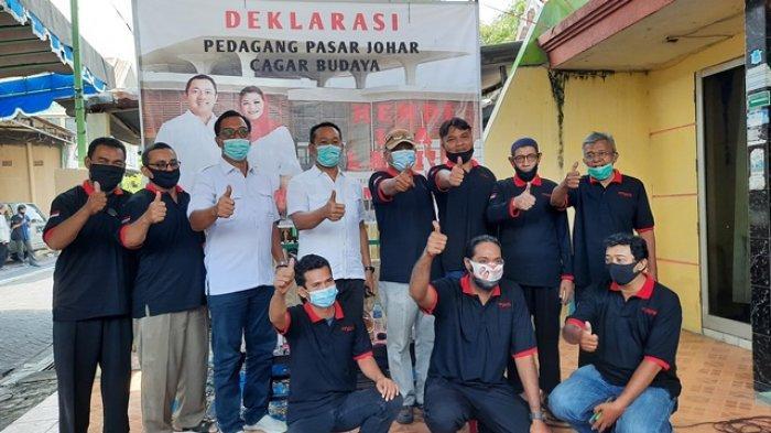 Persatuan Pedagang Pasar Johar Cagar Budaya Deklarasi Dukung Hendi-Ita di Pilwakot Semarang 2020