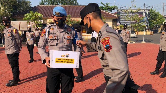 Aksi Simpati Personel Polres Jepara, Sisihkan Gaji untuk Bantu Warga Terdampak PPKM Darurat