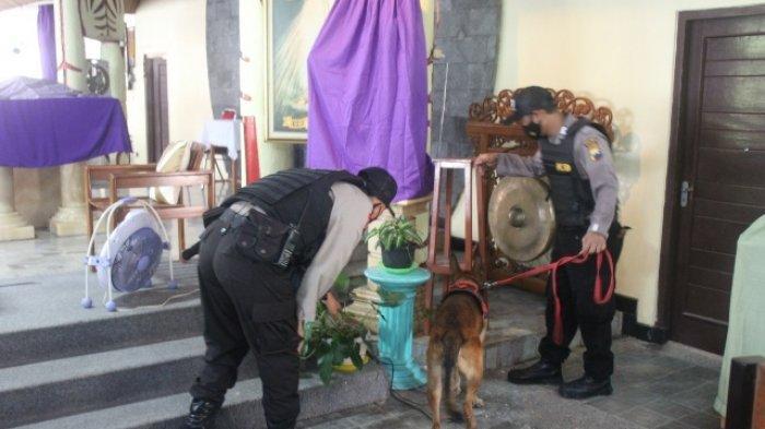 Jelang Paskah, Polres Sragen Lakukan Sterilisasi dan Pantau CCTV Gereja