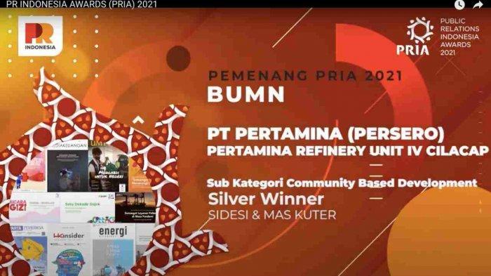 Kilang Pertamina Cilacap Raih Penghargaan Public Relation Indonesia Award 2021