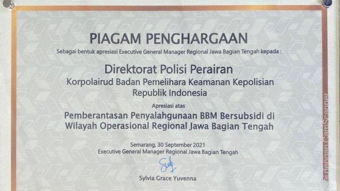 Pertamina Apresiasi Polisi Perairan Ungkap Praktek Penyalahgunaan BBM Bersubsidi di Jawa Tengah