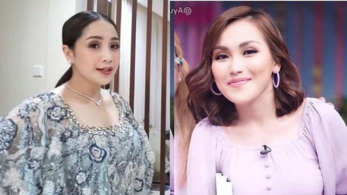 Momen Canggung Nagita Istri Raffi Ahmad Bertemu Ayu Ting Ting di Nikah Aurel Atta: Nempel di Tembok