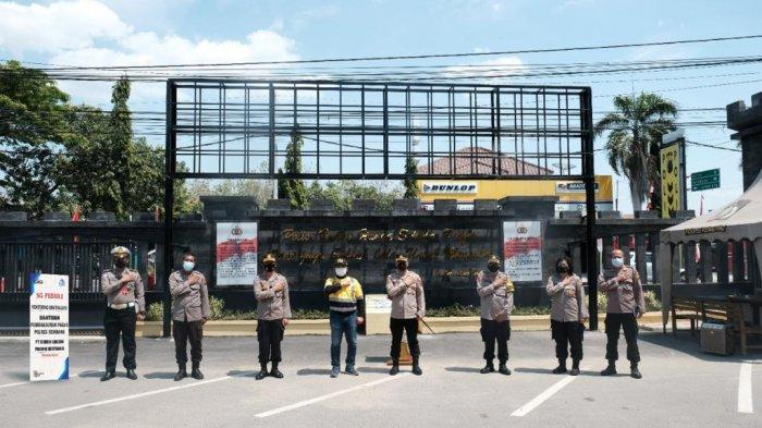 Perkuat Sinergitas, SG Bangun Sarana Infrastruktur Pagar Polres Rembang