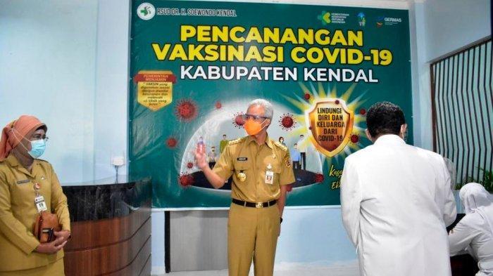 Pesan Ganjar Pranowo saat Meninjau Vaksinasi di Kendal: Ke Depan Bisa Dipercepat Lagi