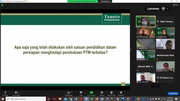 Tanggulangi Learning Loss saat PTM Terbatas, Tanoto Foundation Latih 800 Fasilitator