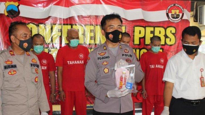 Pesta Sabu, Empat Orang Diamankan Satresnarkoba Polres Purbalingga di Kamar Kos