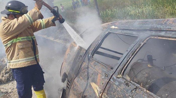 Wagimin Klaten Pasrah Mobilnya Terbakar Seusai Beli BBM 600 Liter