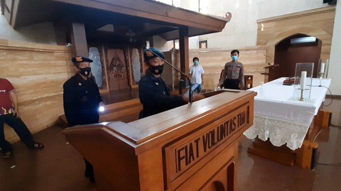 Jelang Paskah, Tim Penjinak Bom Polda Jateng Lakukan Sterilisasi Gereja di Solo
