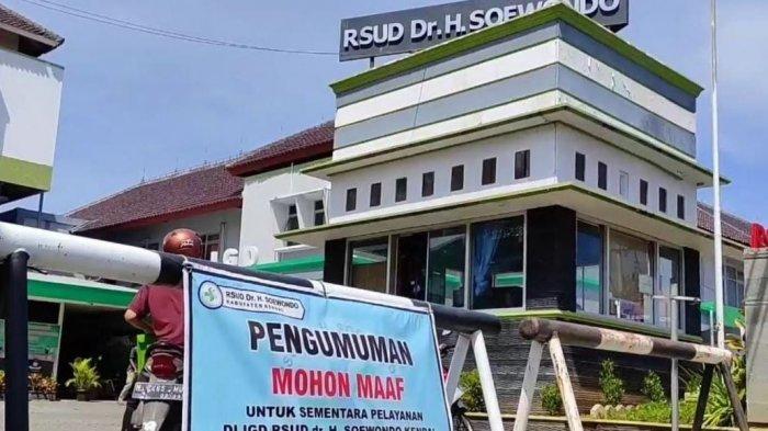 Pelayanan di UGD RSUD dr Soewondo Kendal ditutup sementara waktu, Senin (12/7/2021).
