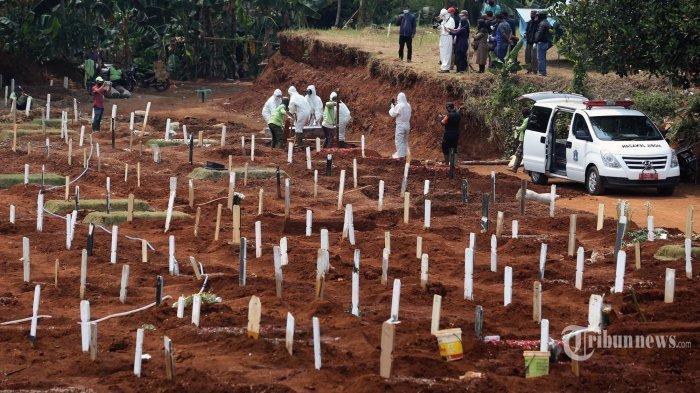 Lahan Pemakaman Pasien Covid-19 Penuh, Jenazah Dimakamkan Sistem Tumpang