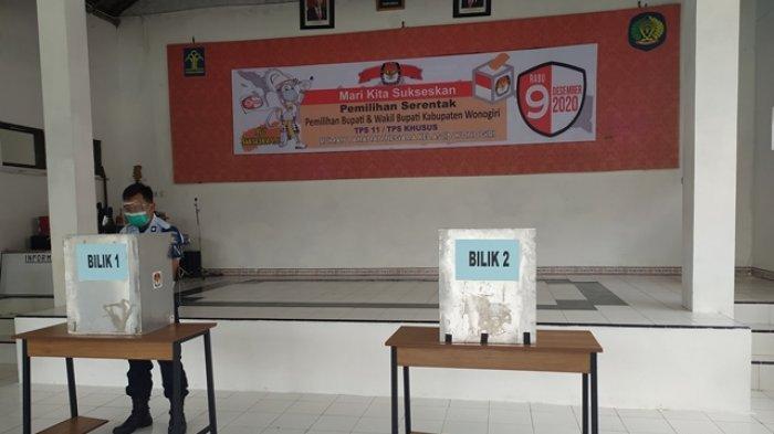 Paslon 2 Joko Sutopo-Setyo Sukarno Unggul di TPS Khusus Rutan Kelas II B Wonogiri