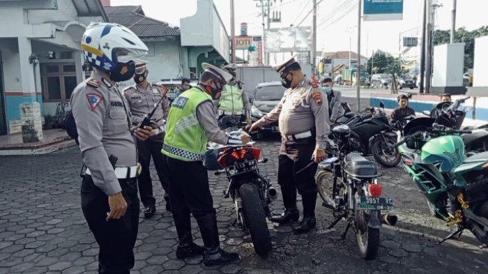Jelang Tahun Baru 2021, Satlantas Polres Semarang Razia Knalpot Brong