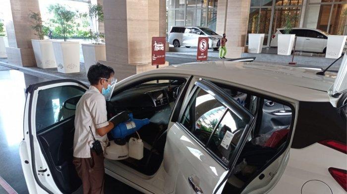 Dukung Prokes, Tentrem Mall Semarang Sediakan Semprot Disinfektan Gratis untuk Mobil Customer