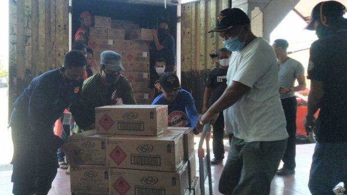 Kendal Terima Bantuan 248 Ribu Botol Handsanitizer dan 600 Ribu Masker dari Singapura