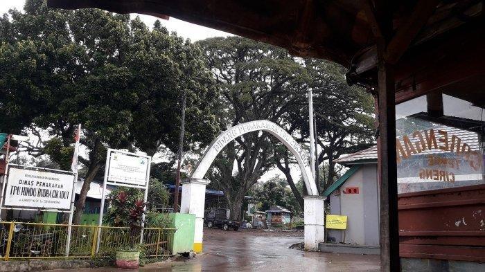 Pintu gerbang Tempat Permakaman Umum atau TPU Cikadut, Kota Bandung, Jawa Barat.
