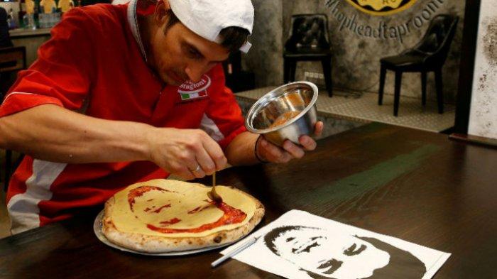 Ingin Makan Pizza Berwajah Bintang Piala Dunia 2018? di Sinilah Tempatnya