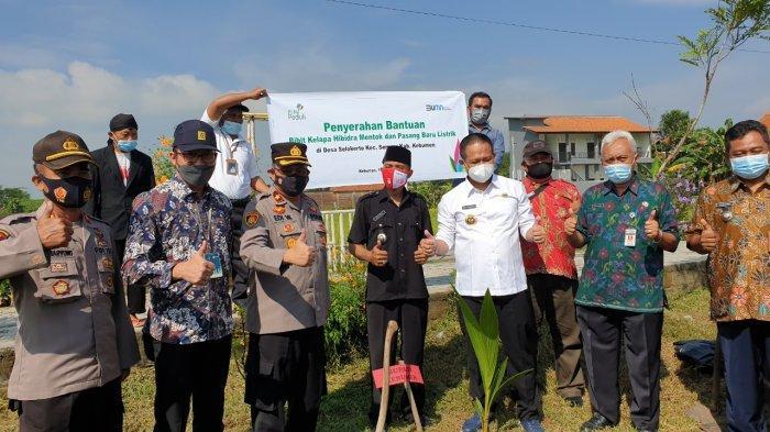 PLN Berikan Bantuan Penanaman Bibit Kelapa Mentok di Kebumen