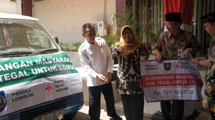 Peduli Lombok, Pemkab Tegal Salurkan Bantuan Sebesar Rp 121 Juta Lebih