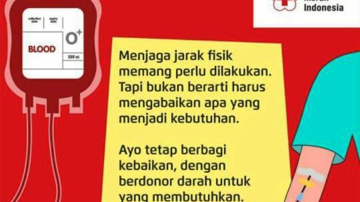Jadwal Pelayanan Donor Darah PMI Kota Semarang Jumat 11 Juni 2021 Buka di 2 Lokasi