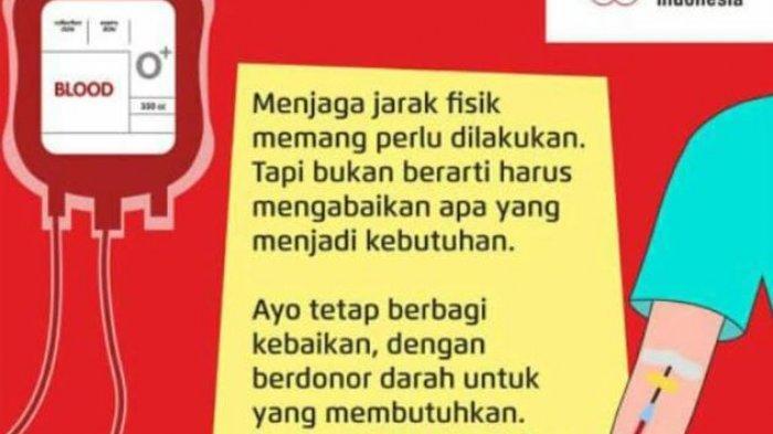 Stok Darah PMI Kota Semarang Hari Ini Rabu 16 September 2020, Subtotal Komponen WB Menipis