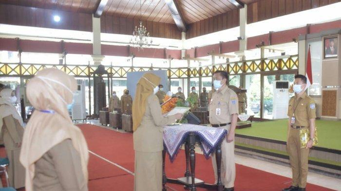 Sekda Kabupaten Tegal Lantik 42 Orang Pejabat Fungsional dan Administrasi
