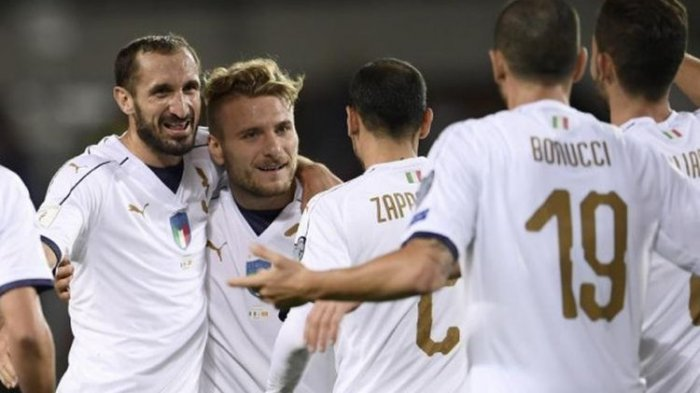Hasil EURO 2020 - Hajar Swiss 3-0, Timnas Italia Jadi Tim Pertama yang Lolos ke 16 Besar