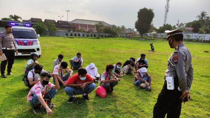 Belasan Pelajar Hendak Konvoi Kelulusan Terjaring Operasi Keamanan dan Ketertiban Polresta Banyumas