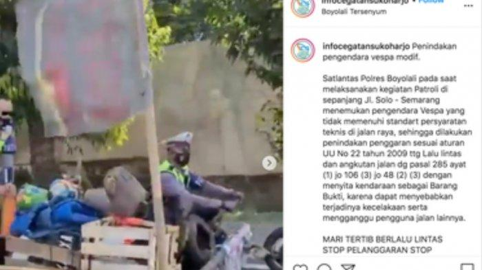 Viral Polisi Kendarai Vespa Modifikasi Lebar Sebadan Jalan di Boyolali, Ini yang Sebenarnya Terjadi